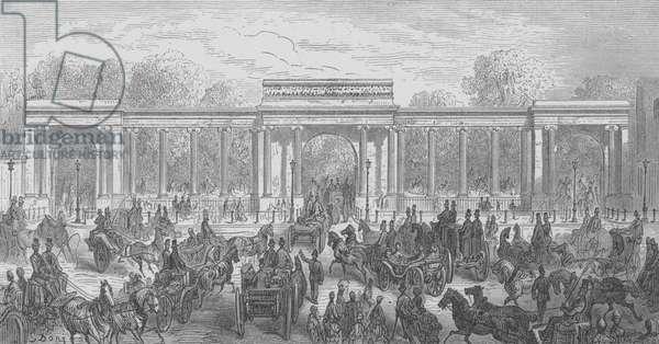 Hyde Park, Entree Par Piccadilly (engraving)