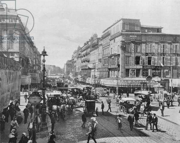 Marseille - La Cannebiere (b/w photo)