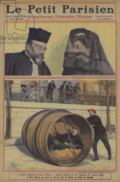 Cover of Le Petit Parisien, 7 November 1909 (colour litho)