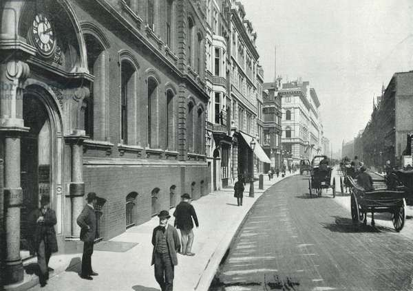 "Queen Victoria Street, the Office of the ""Times"" (b/w photo)"