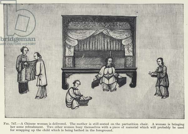 A Chinese woman is delivered (litho)