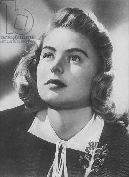 Portraits of film stars: Ingrid Bergman (b/w photo)