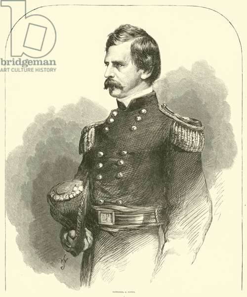 Nathaniel P Banks, 1863 (engraving)