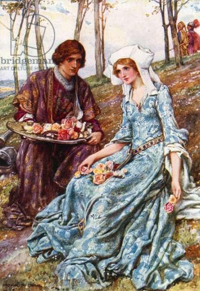 Geraint and Enid (colour litho)