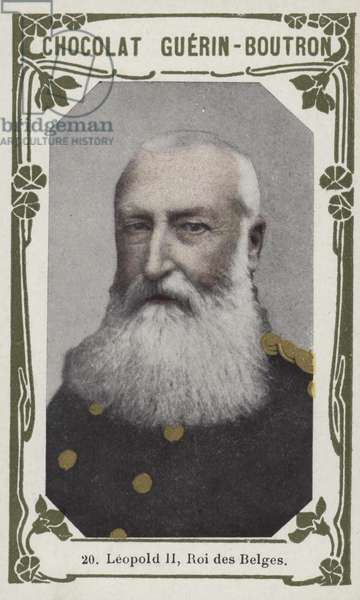 Leopold II, Roi des Belges (coloured photo)