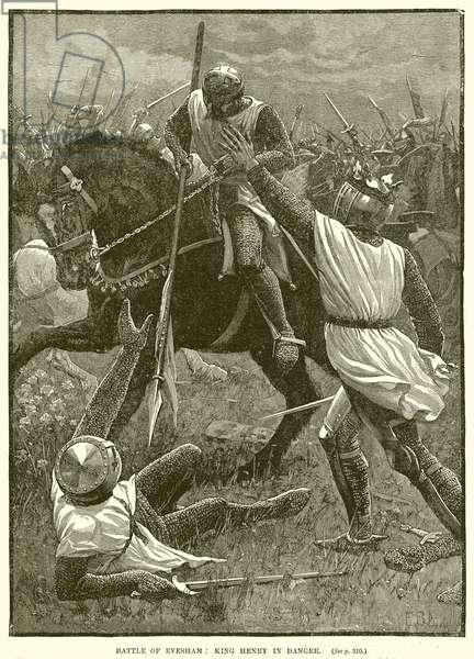 Battle of Evesham: King Henry in Danger (engraving)