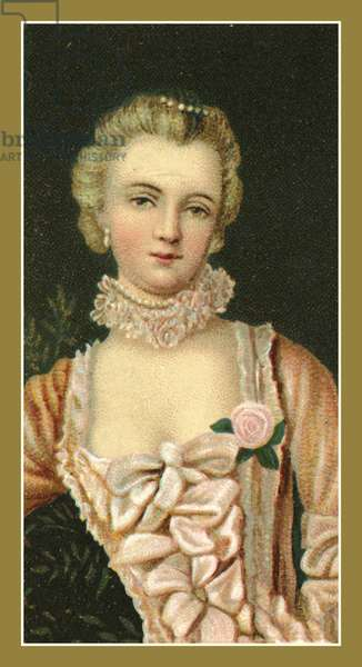 The Marquise de Pompadour by Francois Boucher (colour litho)