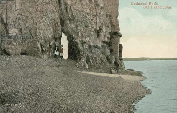 Cathedral Rock, Bar Harbor, Maine (colour photo)