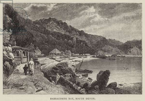 Babbacombe Bay, South Devon (engraving)
