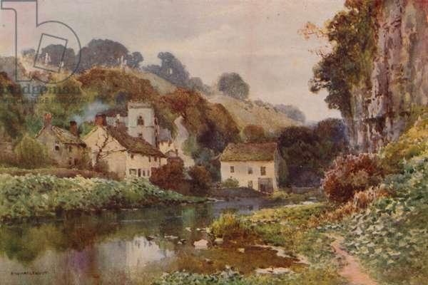 Miller's Dale (colour litho)