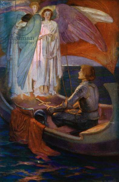 Tennyson Poem: Sir Galahad (colour litho)