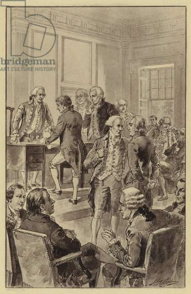 Signing of the Declaration of Independence, 4 July 1776 (litho)