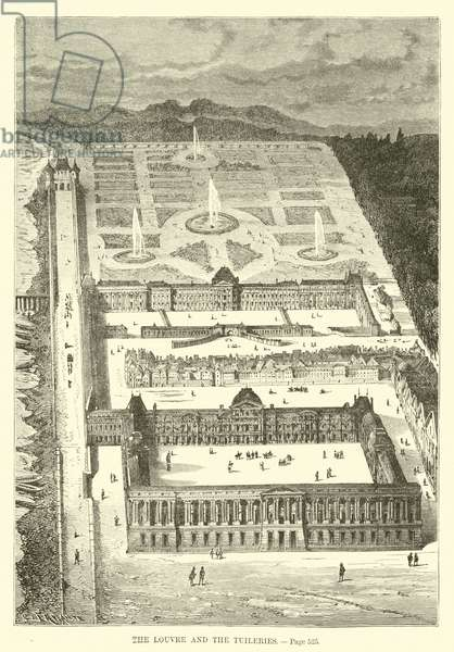 The Louvre and the Tuileries (engraving)
