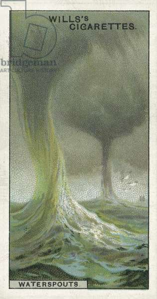 Waterspouts, a peril to ships in tropical seas (chromolitho)