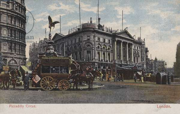Piccadilly Circus, London (coloured photo)