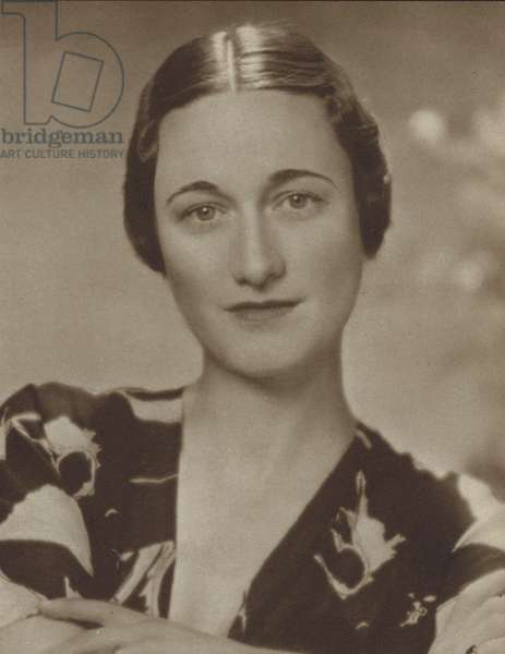 Wallis Simpson, American socialite whose planned marriage to King Edward VIII led to his abdication (b/w photo)