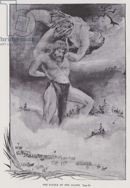 The Battle of the Giants (litho)