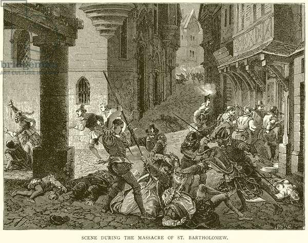 Scene during the Massacre of St. Bartholomew (engraving)