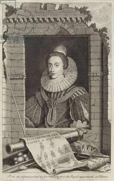 Portrait of Elizabeth Stuart, Queen of Bohemia (engraving)