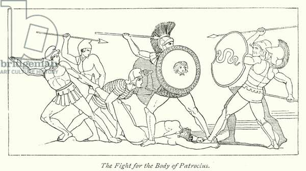 The Fight for the Body of Patroclus (litho)