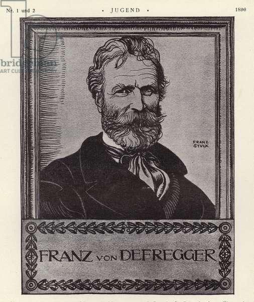 Franz von Defregger, Austrian artist (litho)