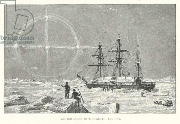 Winter scene in the Arctic regions (engraving)