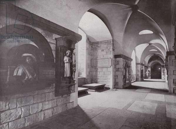 Painters' Corner, Crypt of St Paul's (b/w photo)