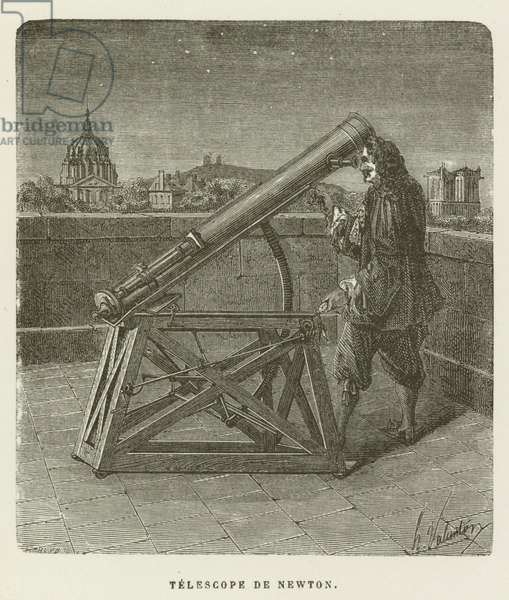 Telescope de Newton (engraving)