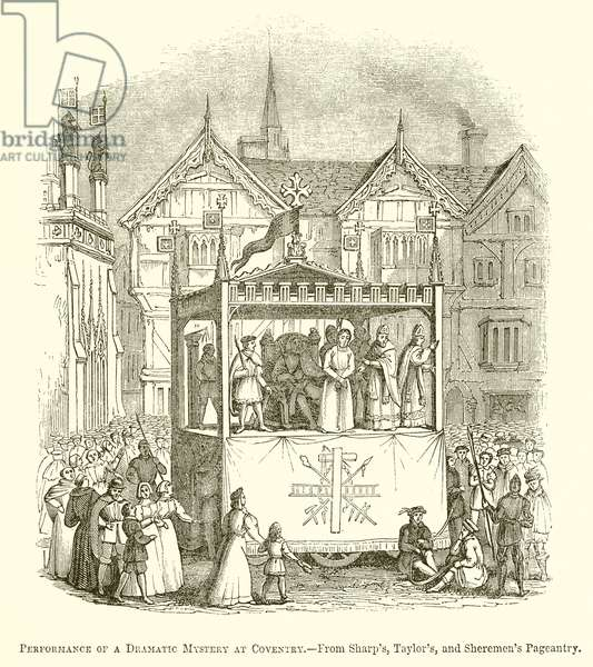 Performance of a Dramatic Mystery at Coventry (engraving)