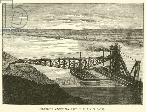 Dredging Machinery used in the Suez Canal (engraving)