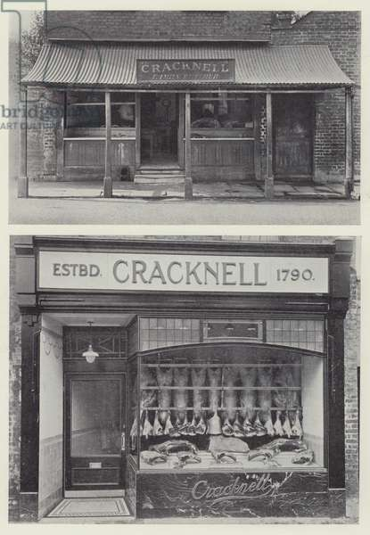 "A Good Example of Conversion from Ancient to Modern, ""New Shops for Old"" (b/w photo)"