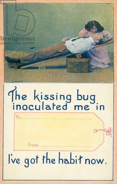 The kissing bug inoculated me in … I've got the habit now (colour photo)