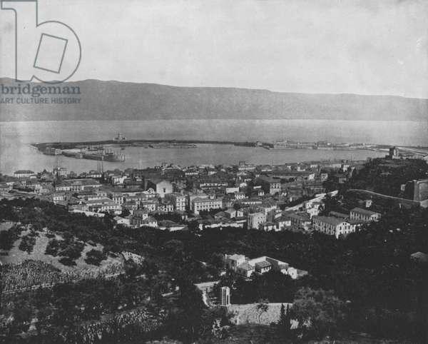 City of Messina, Sicily (b/w photo)