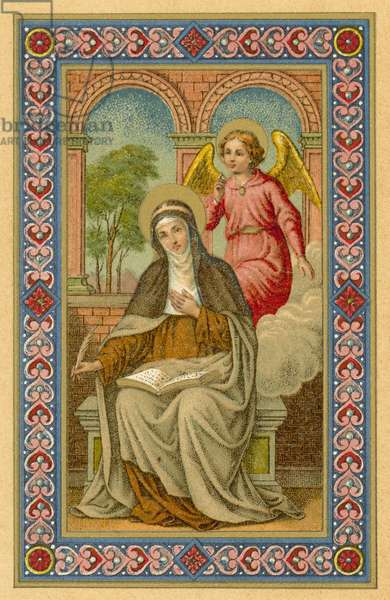 Sta Brigitta (colour litho)