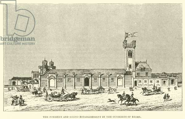 The Pommery and Greno establishment in the Outskirts of Reims (engraving)