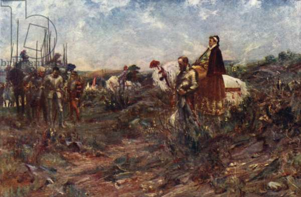 Queen Mary at Carberry Hill (colour litho)