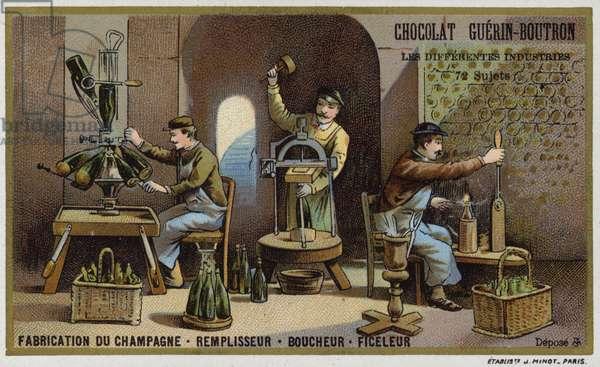 Champagne manufacturing (chromolitho)