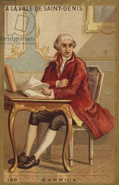David Garrick in the city of Saint-Denis (chromolitho)