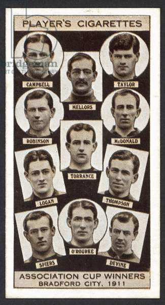 Association Cup Winners, Bradford City, 1911 (litho)