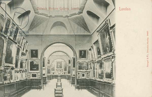 Dulwich Picture Gallery, London (b/w photo)
