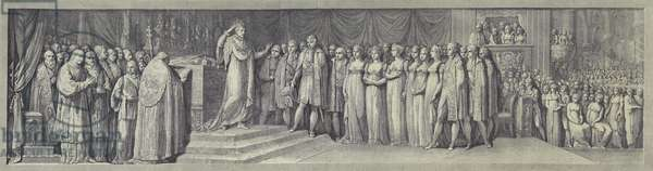 Coronation of Napoleon as King of Italy in Milan Cathedral, 23 May 1805 (litho)