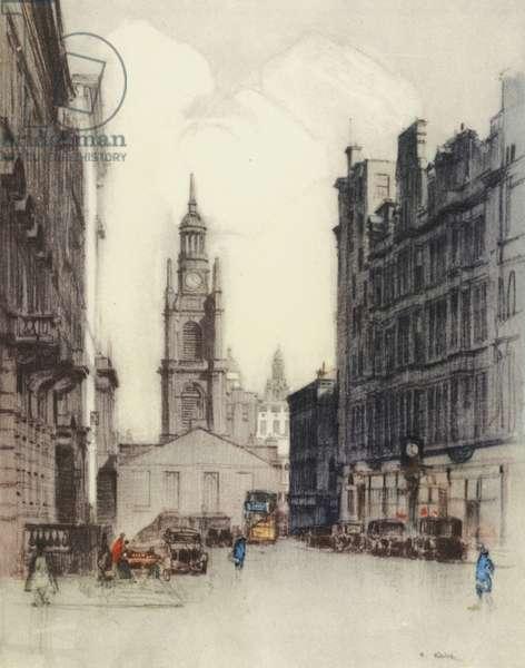 Glasgow: St George's Church (colour litho)