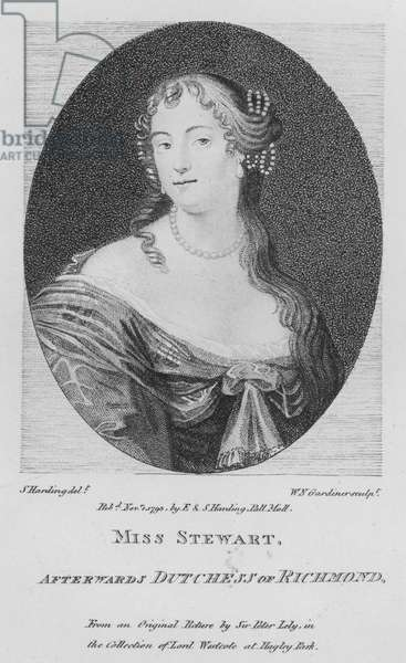 Miss Stewart, afterwards Dutchess of Richmond (engraving)