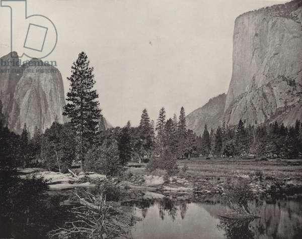 Yosemite Valley, California (b/w photo)