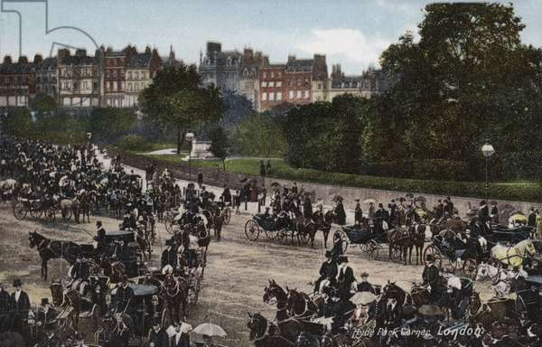 Hyde Park Corner, London (coloured photo)