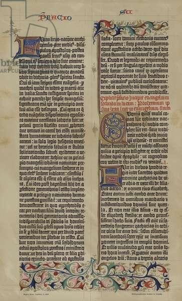 Facsilimile of Johannes Gutenberg's 42-line Latin Bible of 1455 (colour litho)