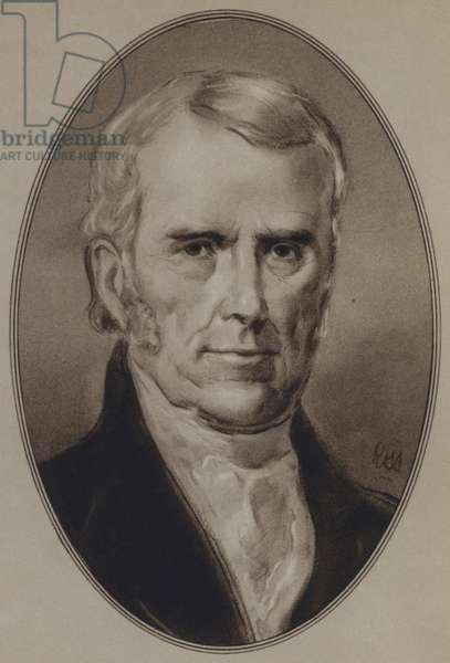 Portraits of American Statesmen: John Marshall (litho)