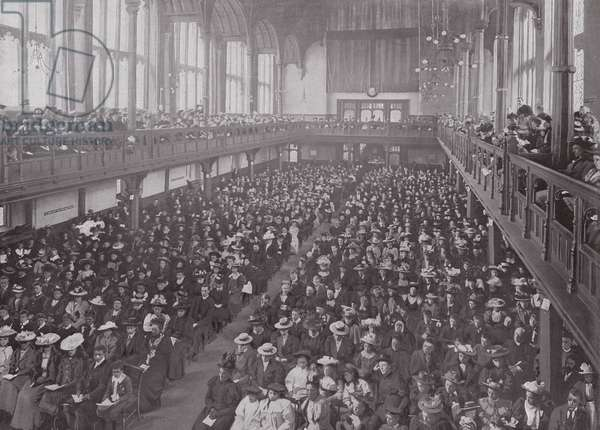A Missionary Meeting at Church House, Westminster (b/w photo)