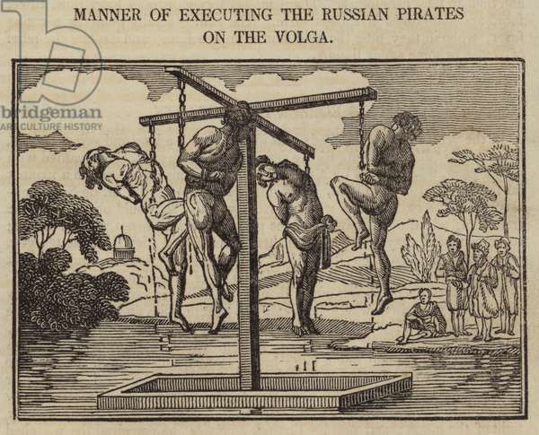 Manner of Executing the Russian Pirates on the Volga (engraving)