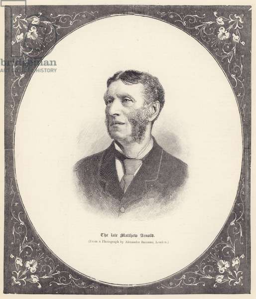The late Matthew Arnold (engraving)